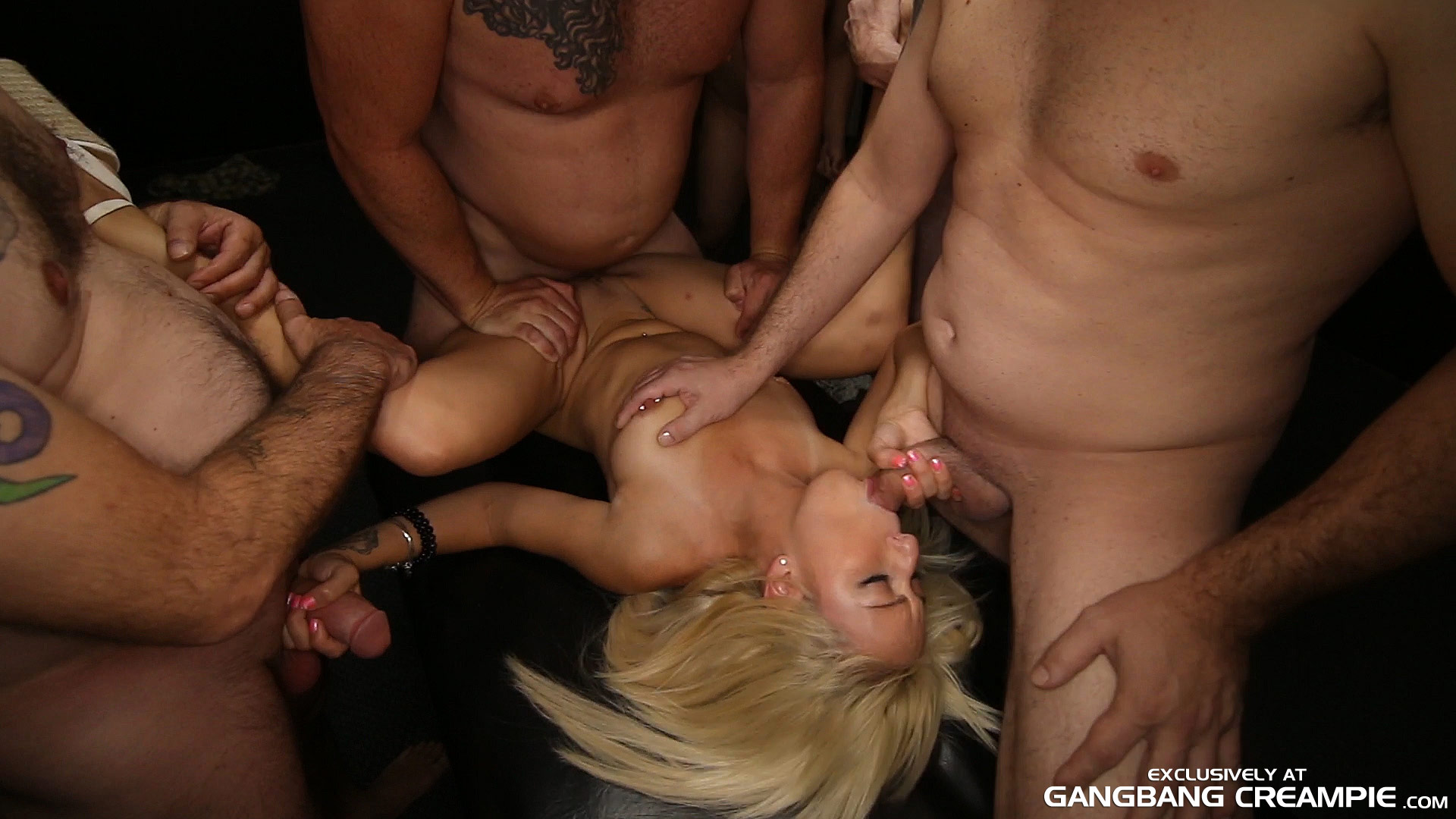 Tiny Asian Gangbang Creampie