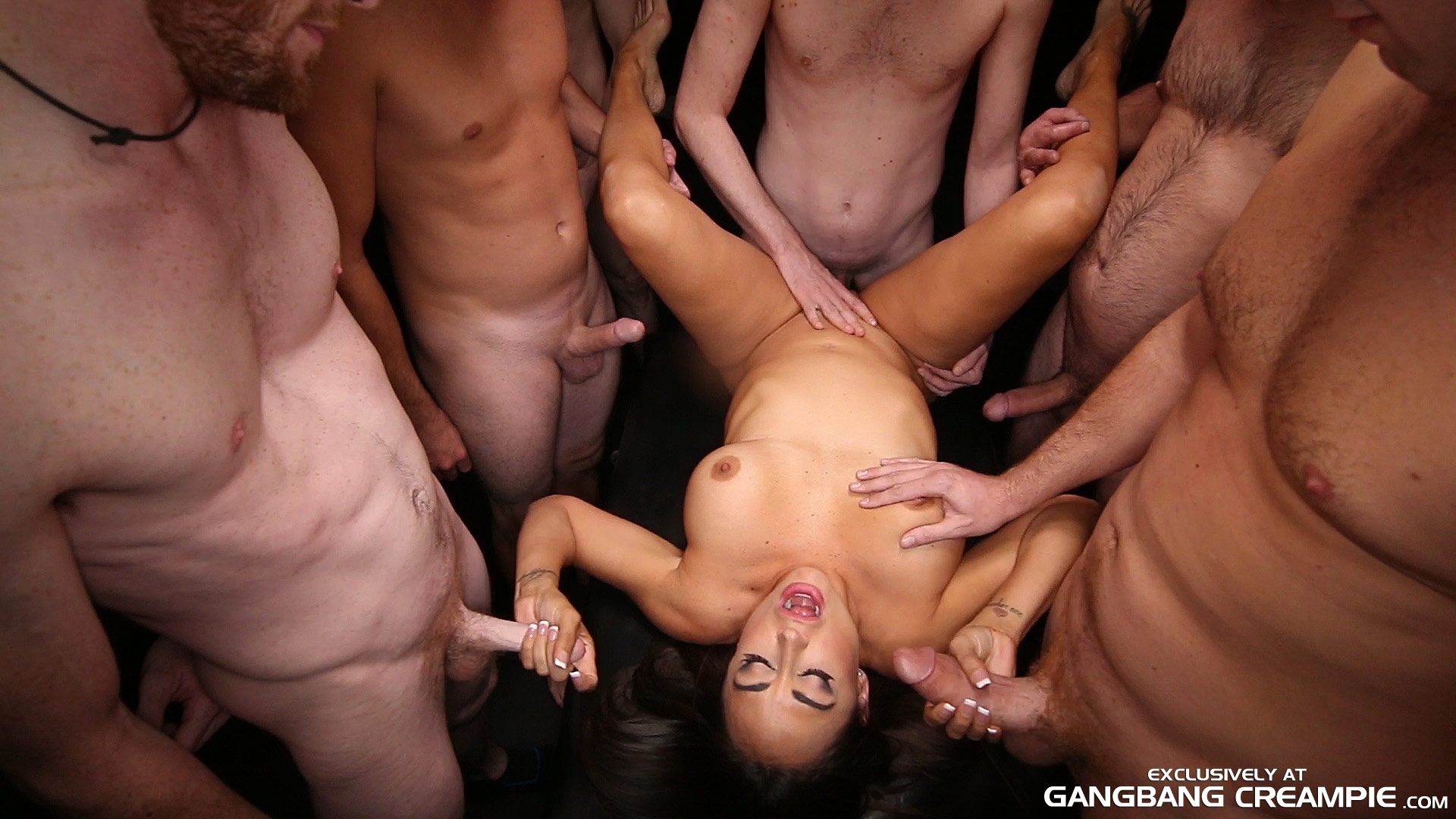 tiny pussy overflowing with cum gangbang creampie the